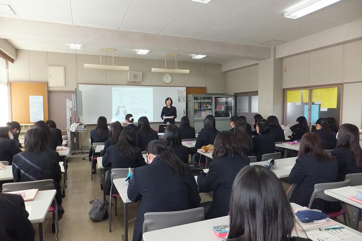 宮城県:名取高等学校テーマ:ビジネスマナー・職業人としての意識